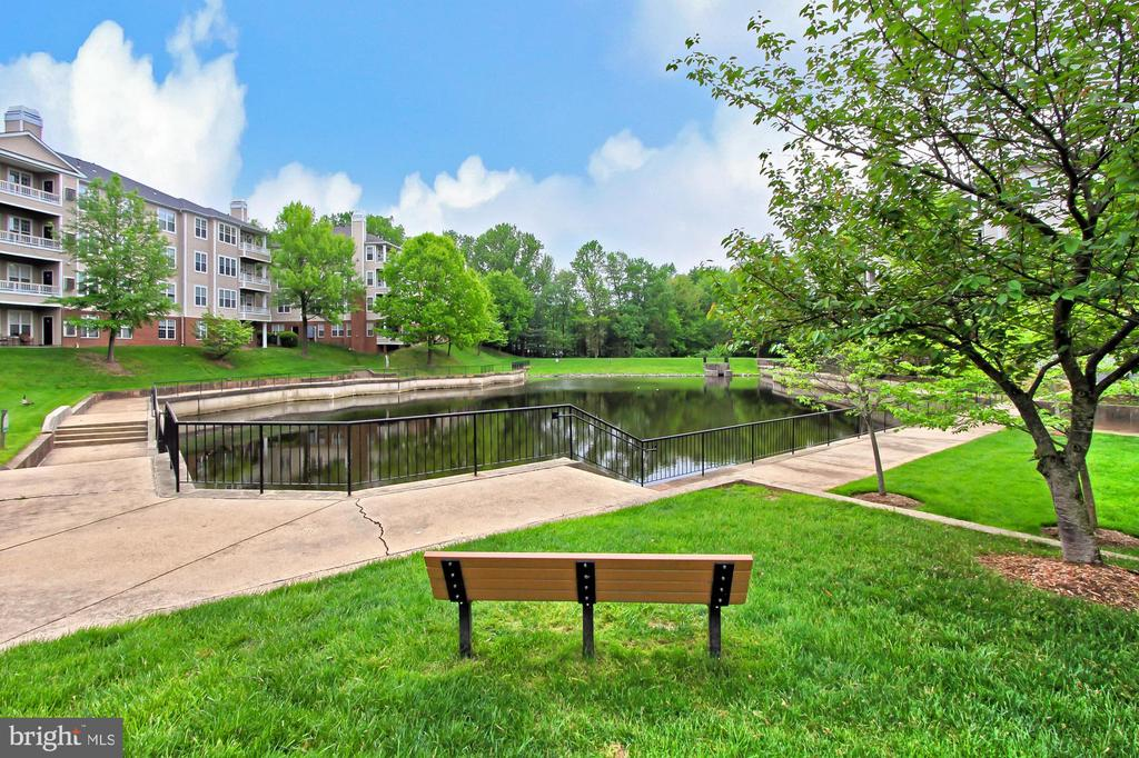 Community -- one of ponds - 4310-T CANNON RIDGE CT #92, FAIRFAX