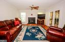Family Room with Gas Fireplace - 318 OAKCREST MANOR DR NE, LEESBURG