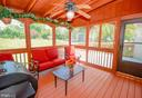 Porch with Ceiling Fan & Shades - 318 OAKCREST MANOR DR NE, LEESBURG