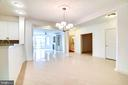Expansive Dining Room with New Chandelier - 440 BELMONT BAY DR #401, WOODBRIDGE