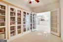 Custom  Bookcases with Glass Doors in Lirbrary - 440 BELMONT BAY DR #401, WOODBRIDGE