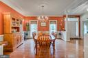 Large open dining room perfect for holidays - 85 TOWN AND COUNTRY DR, FREDERICKSBURG