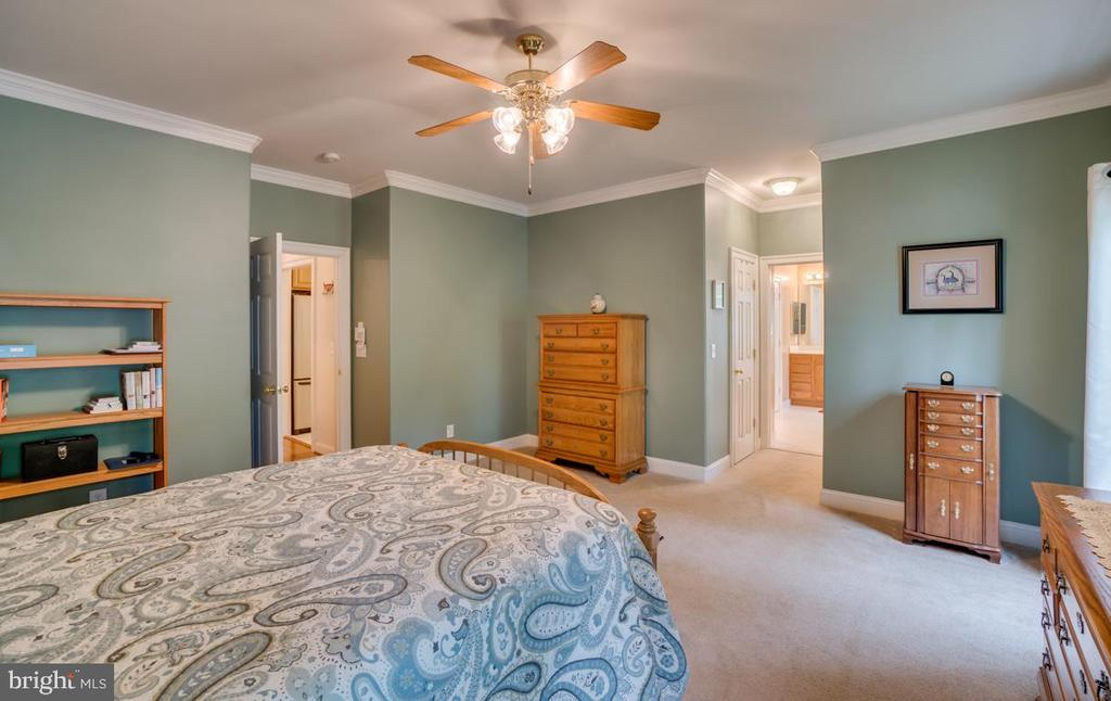 Large master bedroom main floor - 85 TOWN AND COUNTRY DR, FREDERICKSBURG