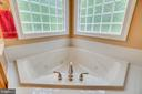 Jetted luxury soaking tub in 1st floor master - 85 TOWN AND COUNTRY DR, FREDERICKSBURG