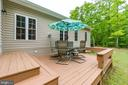 Private backyard with natural wooded views - 85 TOWN AND COUNTRY DR, FREDERICKSBURG