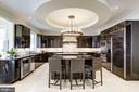 High end, sleek modern Italian Kitchen - 8505 MEADOWLARK LN, BETHESDA