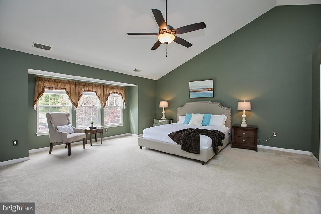 Master suite with vaulted ceilings - 9216 ZACHARY CT, MANASSAS PARK
