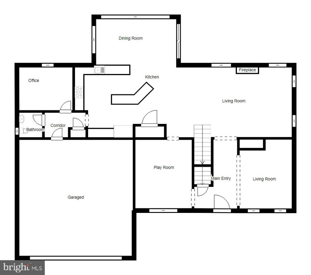 Main Level Floor Plan - 5723 WOODBINE CT, FREDERICKSBURG