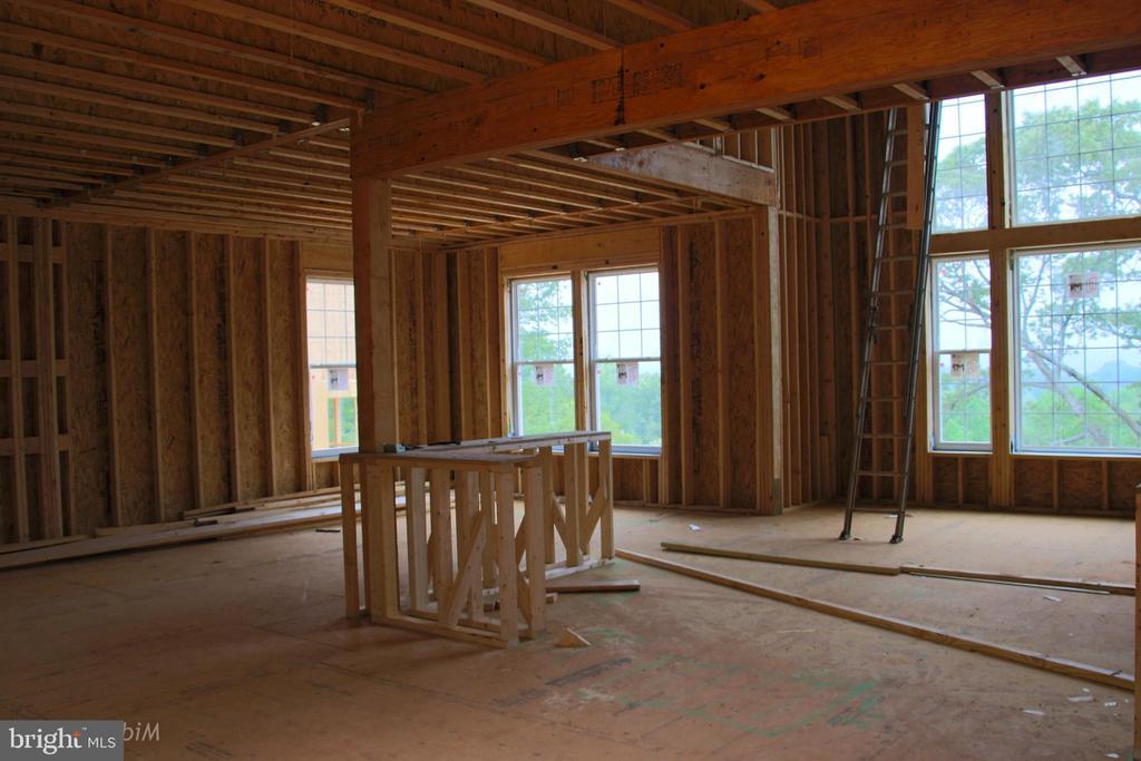 Family room, Dining room framing stage - 173 WHITE OAK ROAD, FREDERICKSBURG