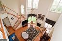 Looking down into great room. - 1517 BROOKDALE CT, WINCHESTER