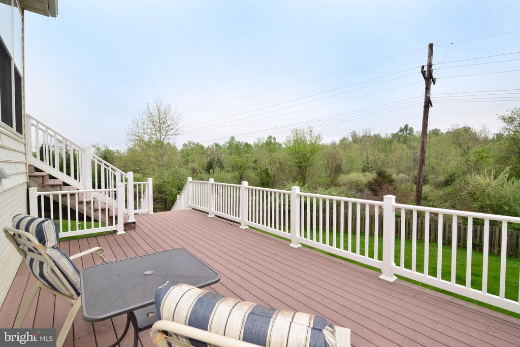 Spacious deck for entertaining! - 1517 BROOKDALE CT, WINCHESTER