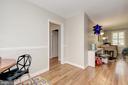 Living rm, foyer & dining rm (hard wood floors) - 4317 36TH ST S #A2, ARLINGTON