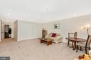 Renovated Lower Level Family Room w/Level Walk-Out - 9404 SINGLETON PL, FREDERICK