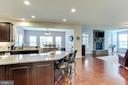 Gourmet Island with Breakfast Bar Seating - 42212 MADTURKEY RUN PL, CHANTILLY