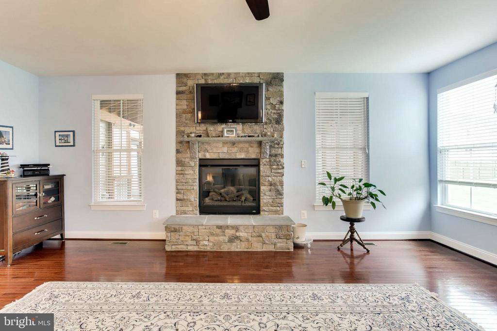 Gas fireplace w/stone hearth - 42212 MADTURKEY RUN PL, CHANTILLY