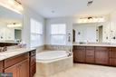 Spa-like bath w/dual vanity - 42212 MADTURKEY RUN PL, CHANTILLY