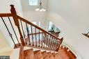 Hardwood staircase to upper level - 42212 MADTURKEY RUN PL, CHANTILLY