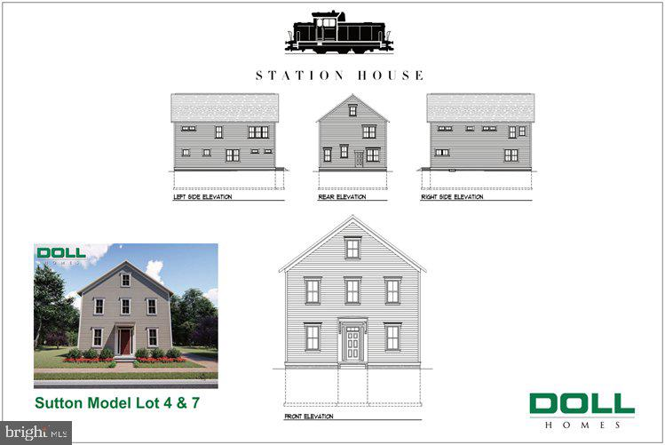 Sutton model front & side elevation - 01 JEFFERSON ST, HERNDON