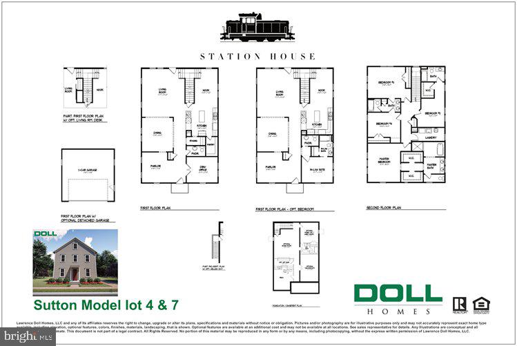 Sutton Model interior floor plan - 0 JEFFERSON ST, HERNDON