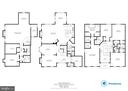 Main, Lower and Upper Levels Floorplan - 1904 MALLINSON WAY, ALEXANDRIA