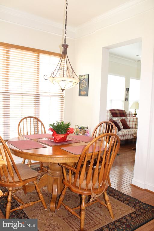 Start the day in a bright breakfast room bump out - 22791 VICKERY PARK DR, BRAMBLETON