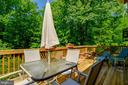 Deck backs to trees - 6109 GLEN OAKS CT, SPRINGFIELD