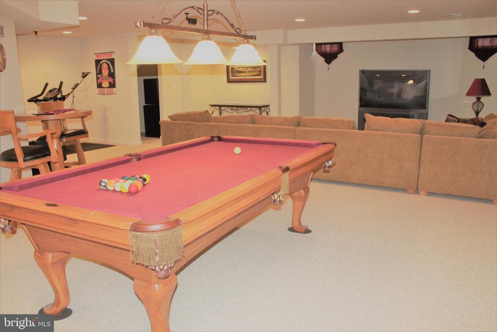 Just love the basement!  (Pool table conveys) - 22791 VICKERY PARK DR, BRAMBLETON