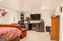 Media room with walk in closet - 1808 GREYSENS FERRY CT, POINT OF ROCKS