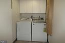 Separate laundry room w/ cabinets & ironng board - 5802 NICHOLSON LN #2-L02, ROCKVILLE