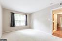 BEDROOM 1 HAS PLENTY OF SPACE FOR A KING SIZE BED! - 1714 ABERCROMBY CT #B, RESTON