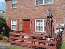 Exterior Front with Patio Area - 9746 HAGEL CIR #E, LORTON