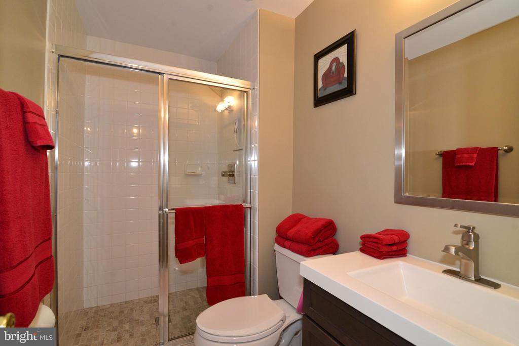 Renovated upper bathroom - 607 NATHAN PL NE, LEESBURG