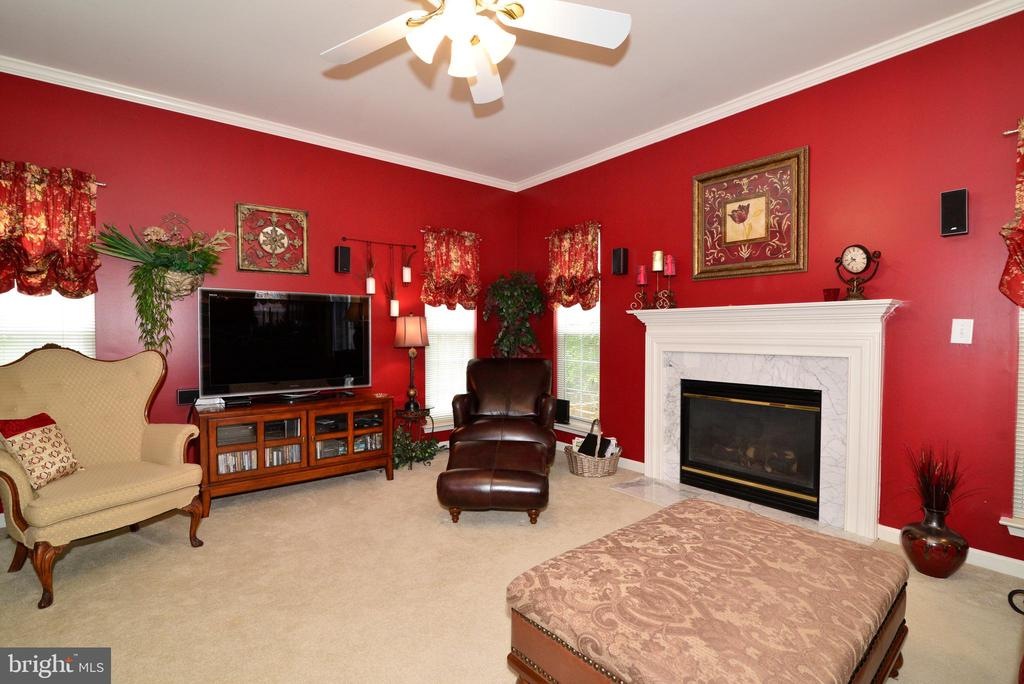 Marble surround gas fire place - 607 NATHAN PL NE, LEESBURG