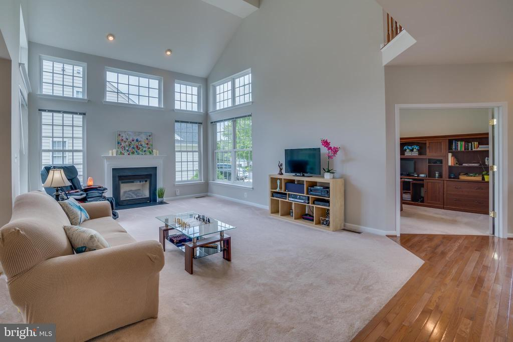 Family room with lots of natural light - 24763 PRAIRIE GRASS DR, ALDIE