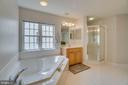 Master bathroom - Large soaking tub - 24763 PRAIRIE GRASS DR, ALDIE