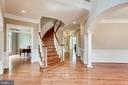 Wrap around staircase - 11692 CARIS GLENNE DR, HERNDON