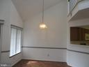DINING AREA WITH VAULTED CEILINGS - 6009-E MERSEY OAKS WAY #4E, ALEXANDRIA