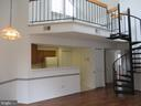 SPIRAL STAIRS TO HUGE LOFT - 6009-E MERSEY OAKS WAY #4E, ALEXANDRIA