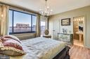 Master Bedroom with View into Master Bath Room - 1121 ARLINGTON BLVD #1006, ARLINGTON