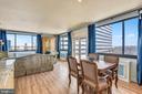 Dining Room View into Living Room - 1121 ARLINGTON BLVD #1006, ARLINGTON