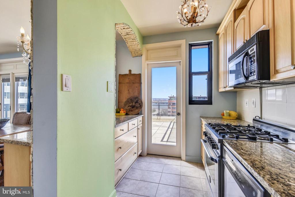 Kitchen View && Separate Exit to Terrace - 1121 ARLINGTON BLVD #1006, ARLINGTON