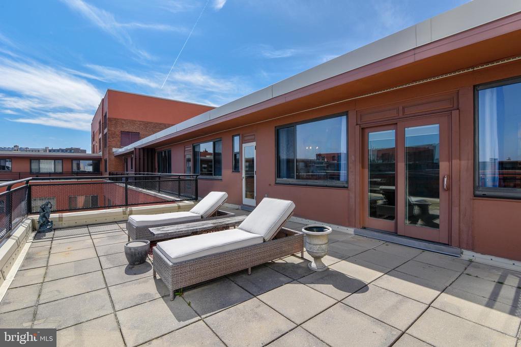Terrace View into Unit - 1121 ARLINGTON BLVD #1006, ARLINGTON
