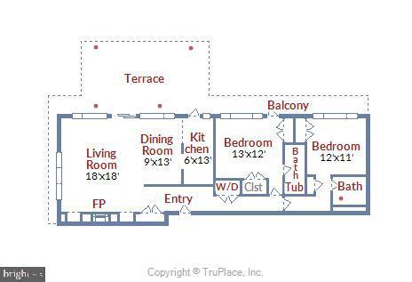 Floor Plan Layout - 1121 ARLINGTON BLVD #1006, ARLINGTON