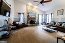 Family Room with/Fireplace - 3713 STONEWALL MANOR DR, TRIANGLE