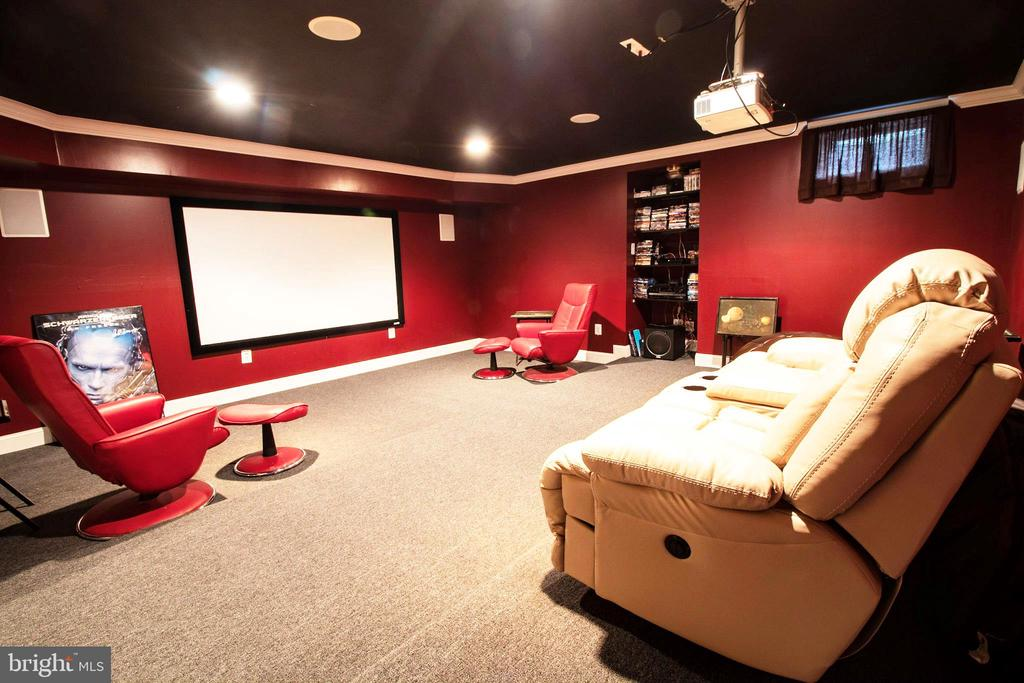 Media Room - 3713 STONEWALL MANOR DR, TRIANGLE