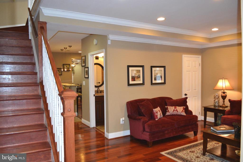 Living Room showing entry to Main Level Full Bath - 1724 BAY ST SE, WASHINGTON