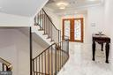Staircase to all 3 levels - 3115 NORMANSTONE TER NW, WASHINGTON