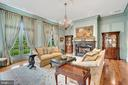 French-doors in Living room lead to terrace - 12410 COVE LN, HUME