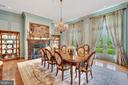 Dining Room with Fireplace - 12410 COVE LN, HUME