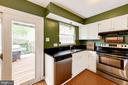 Kitchen With Sliding Glass Door to Deck - 6964 OLD BRENTFORD RD, ALEXANDRIA